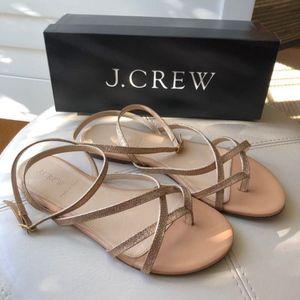 J. Crew Pilar Glitter Sandal
